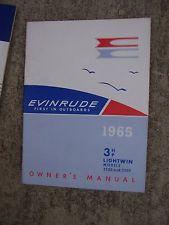 Evinrude 3.0 HP 1965 modeloa 3502 3503 3512 3532 3533