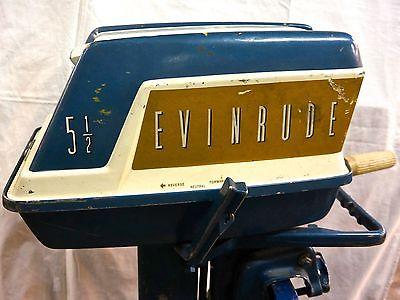 Evinrude 5.5 HP 1959 modelo 5518 5519