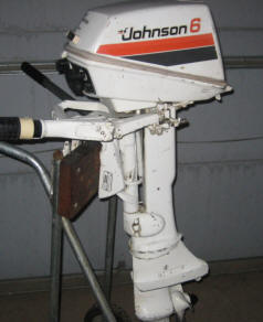 johnson 6 hp 1977 model 6r77 6rl77 outboard boat motor