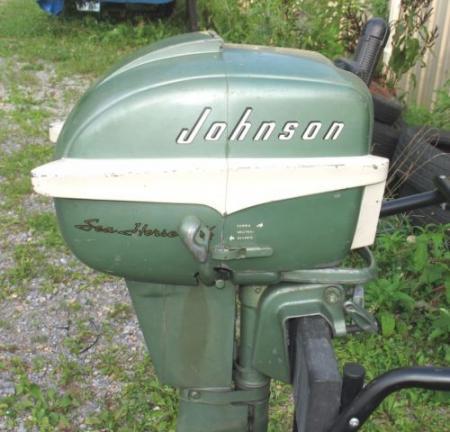 Johnson 5.5 HP 1955 modeloa CD-10 CD-12