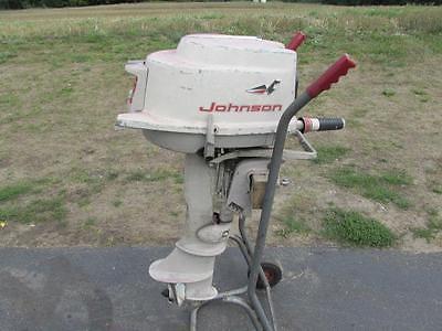 Johnson 5 5 Hp 1961 Model Cd 18 Cdl 18 Outboard Boat