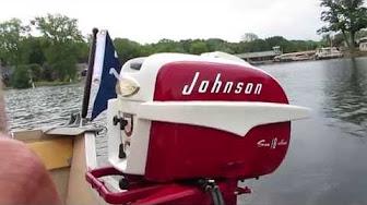 Johnson 18 HP 1957 modeloaren E-11, FD-11, FDL-11