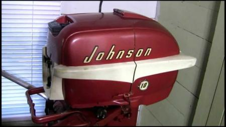 Johnson 10 HP 1956 Modelo QD-17
