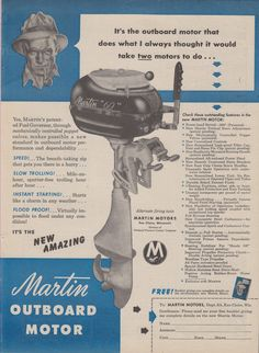 Evinrude 25 HP 1951-1952 modelo 2001 2002