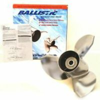 345033 Michigan Ballistic High Performance Stainless Steel Propeller (14-1/2 x 19) for V-6 Gearcase, 15 Spline, and Thru-Hub Exhaust, Right Hand Rotation