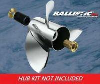 933419 Michigan Ballistic Performance Stainless Steel Propeller (13-3 / 8 x 19), exhaust Thru-Hub