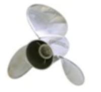 763954 BRP Evinrude Raker rustfrit stål propel (13-1 / 2 x 20) 13-spline, thru-hub udstødning