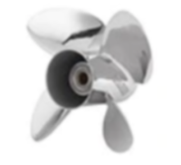 763965 Evinrude Rogue Stainless Steel Propeller (13-1/4 x 15) 13-Spline, Thru-Hub Exhaust