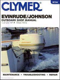 Clymer - Evinrude Johnson piekarināmā veikala rokasgrāmata no 1.5 līdz 125 Hp 1956–1972 B734