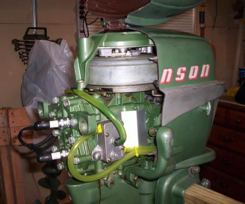 fuel pump on 1954 Johmson