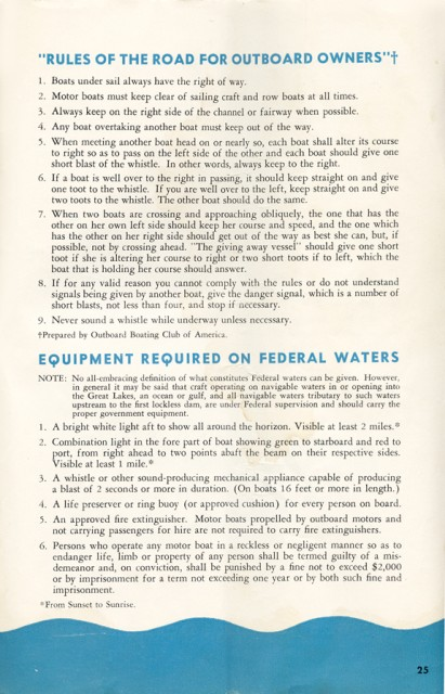 Evinrude 3012 Owners Manual Page 25