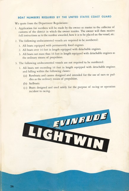 Evinrude 3012 Owners Manual Page 26