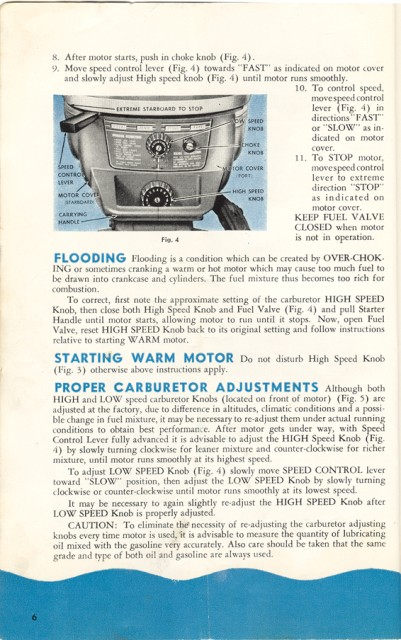 Evinrude 3012 Owners Manual Page 6