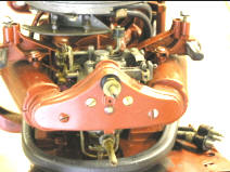 Johnson Seahorse 5.5 Carburetor Front Pannel Removed