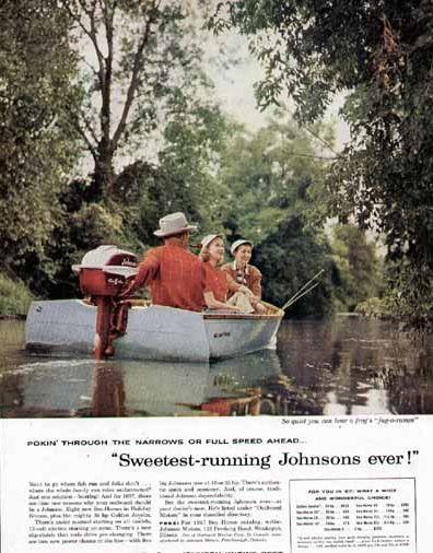 1957 Johnson Seahorse Reklāmas