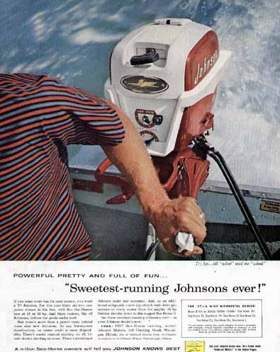 1957 Johnson Seahrose Ad