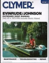 Clymer - 1973-1990  EVINRUDE/JOHNSON OUTBOARD 2-40 HP SHOP SERVICE MANUAL B732