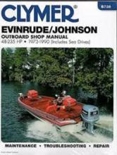 Clymer - 1973-1990 CLYMER EVINRUDE/JOHNSON OUTBOARD 48-235 HP SERVICE MANUAL  B736