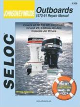 SELOC - Johnson / Evinrude Outboards, 1973-91 remonta rokasgrāmata # 1308