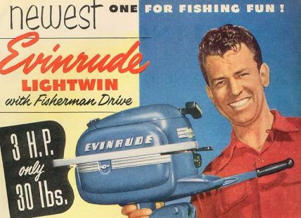 50s Evinrude Lightwin-annonse